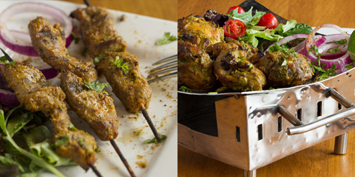 lamb satay on skewers