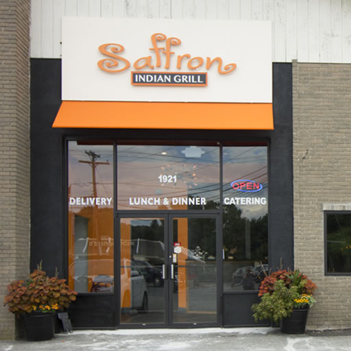 Saffron Exterior and window signage